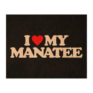 I LOVE MY MANATEE CORK PAPER PRINT