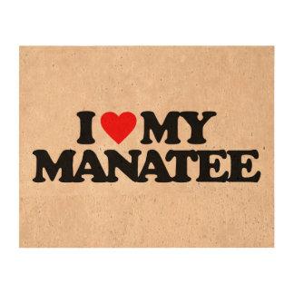 I LOVE MY MANATEE QUEORK PHOTO PRINTS