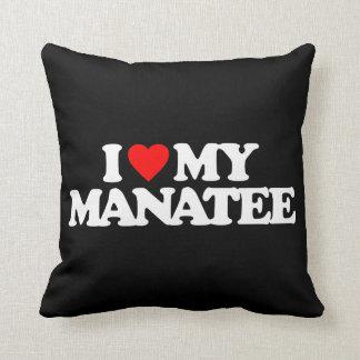 I LOVE MY MANATEE THROW PILLOW