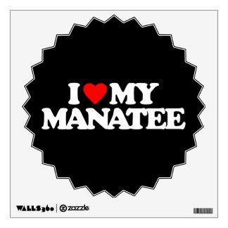 I LOVE MY MANATEE WALL DECAL