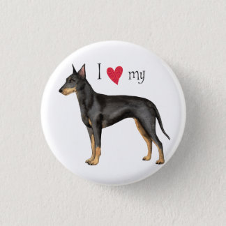 I Love my Manchester Terrier Pinback Button