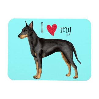 I Love my Manchester Terrier Rectangular Magnet