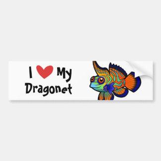 I Love My Mandarin / Dragonet Fish Bumper Sticker