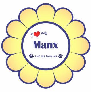 I Love My Manx (Female Cat) Statuette