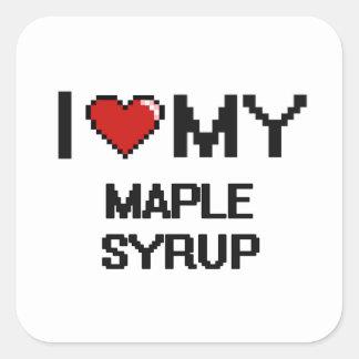 I Love My Maple Syrup Digital design Square Sticker