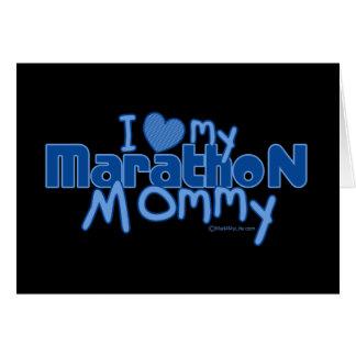 I Love My Marathon Mommy Card