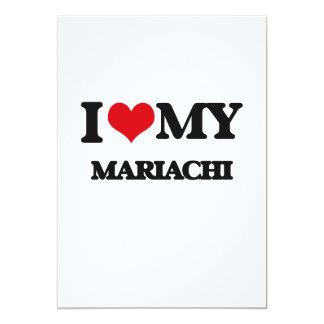 I Love My MARIACHI Customized Announcement Card