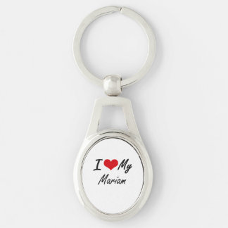 I love my Mariam Silver-Colored Oval Metal Keychain