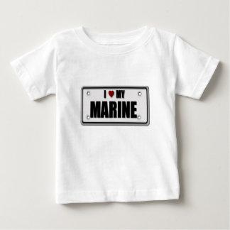 I Love My Marine Baby T-Shirt
