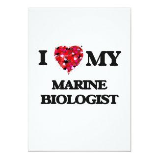 I love my Marine Biologist 5x7 Paper Invitation Card