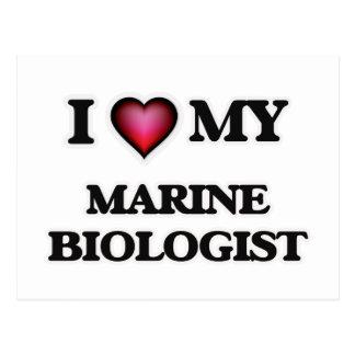 I love my Marine Biologist Postcard