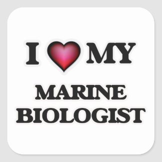 I love my Marine Biologist Square Sticker