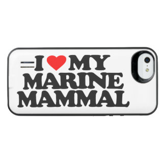 I LOVE MY MARINE MAMMAL iPhone SE/5/5s BATTERY CASE