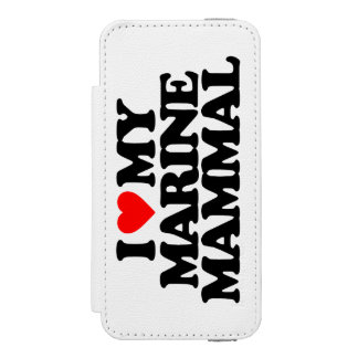 I LOVE MY MARINE MAMMAL iPhone SE/5/5s WALLET CASE