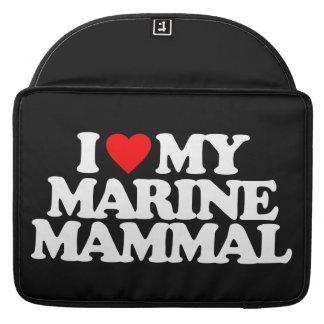 I LOVE MY MARINE MAMMAL MacBook PRO SLEEVES