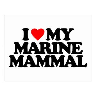 I LOVE MY MARINE MAMMAL POST CARDS