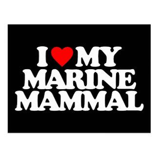 I LOVE MY MARINE MAMMAL POSTCARD