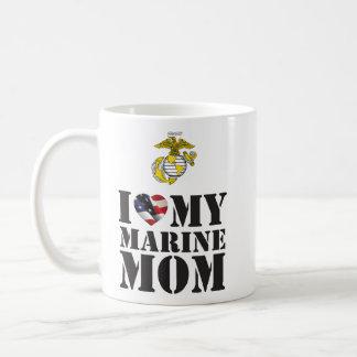 I LOVE MY MARINE MOM COFFEE MUG