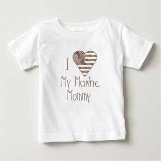 I Love My Marine Mommy Baby T-Shirt