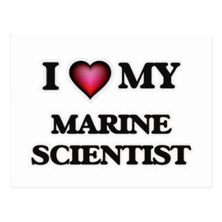 I love my Marine Scientist Postcard
