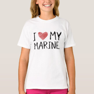 I Love My Marine T-Shirt
