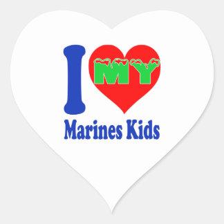 I love my Marines Kids. Sticker