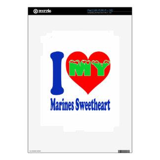I love my Marines Sweetheart. iPad 2 Decals