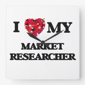 I love my Market Researcher Square Wallclock
