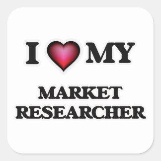 I love my Market Researcher Square Sticker