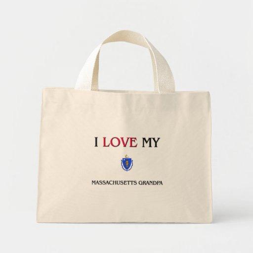 I Love My Massachusetts Grandpa Mini Tote Bag