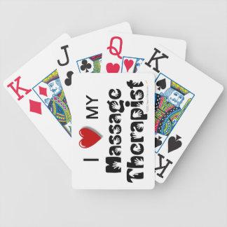 I Love My Massage Therapist Custom Playing Cards