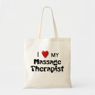I Love My Massage Therapist Reusable Cotton Canvas Tote Bag