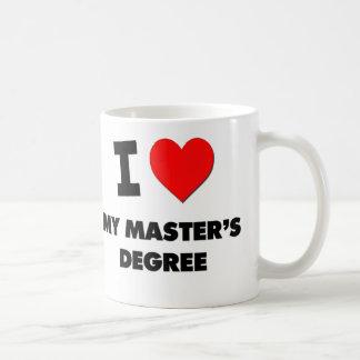 I Love My Master'S Degree Classic White Coffee Mug