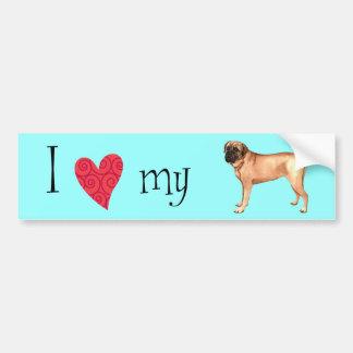 I Love my Mastiff Bumper Sticker