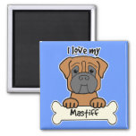 I Love My Mastiff Fridge Magnets