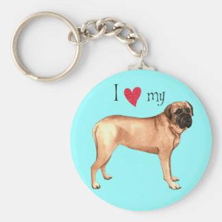 I Love my Mastiff Keychain