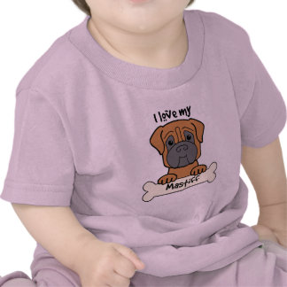 I Love My Mastiff T Shirt