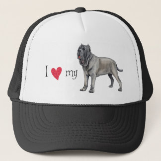 I Love my Mastino Trucker Hat