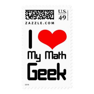 I love my math geek postage