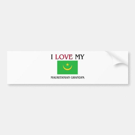 I Love My Mauritanian Grandpa Bumper Sticker