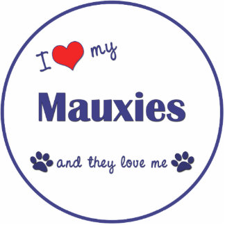 I Love My Mauxies (Multiple Dogs) Photo Statuette