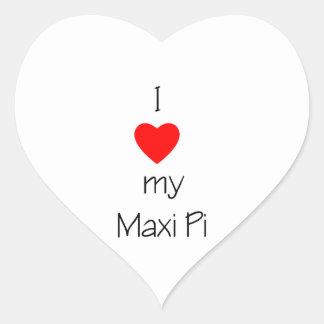 I Love My Maxi Pi Heart Sticker