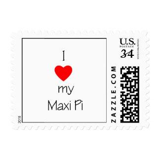 I Love My Maxi Pi Postage