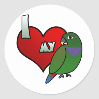 I Love my Maximilian Pionus Stickers