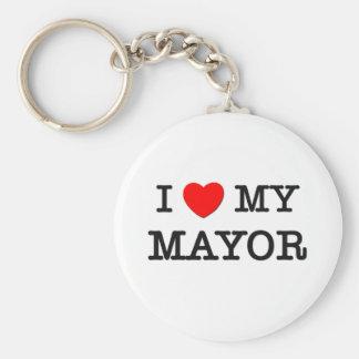I Love My MAYOR Keychain