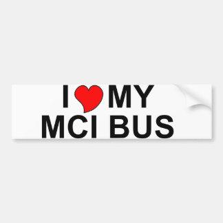 I Love My MCI Bus Bumper Sticker