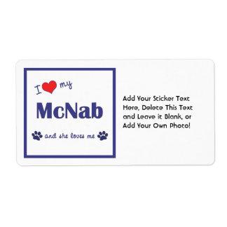 I Love My McNab (Female Dog) Shipping Label