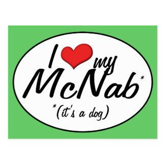 I Love My McNab (It's a Dog) Postcard