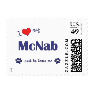 I Love My McNab (Male Dog) Postage