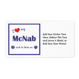 I Love My McNab (Male Dog) Shipping Label